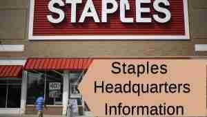 Staples Headquarters Information
