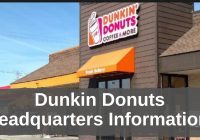 Dunkin Donuts Headquarters Information